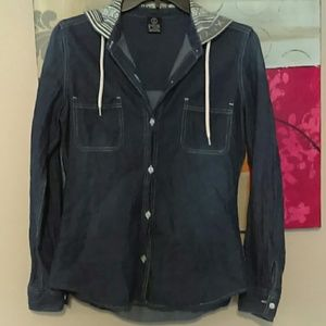 Jean Shirt with Hoodie
